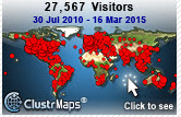Visitor map through March 2015